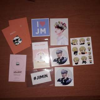 BTS JIMIN FANSITE STICKERS & METAL STICKER