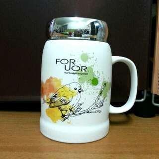 FOR UOR 春漾覆蓋陶瓷杯