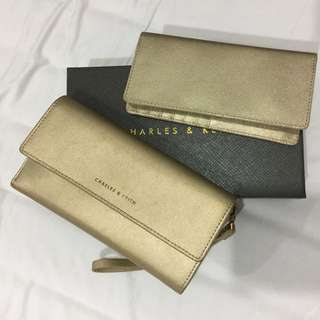Charles & Keith Gold Wallet