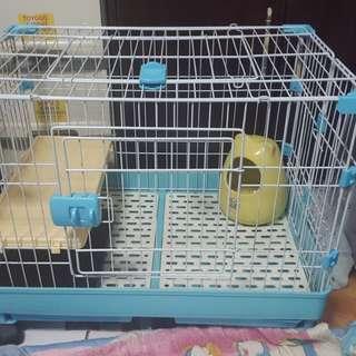 Blue Rabbit Cage