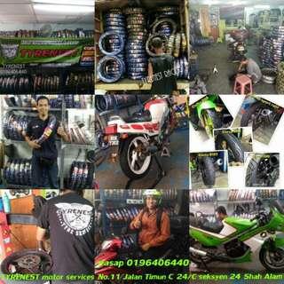 Tyrenest motor services Port tayar motor baik punya