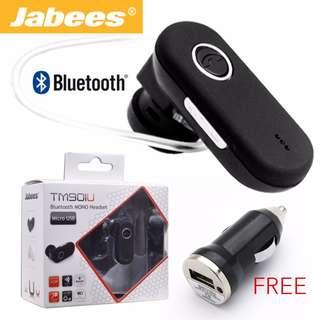 Jabees TM901U Bluetooth v3.0 Headset w/VoIP Support - Black