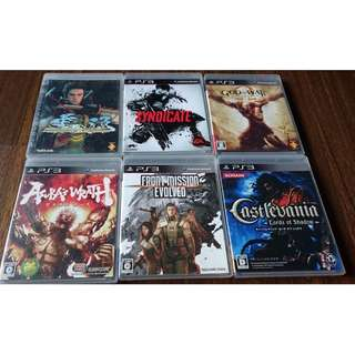 PS 3 games @$10 each