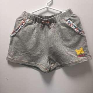 Disney Winnie the Poon 灰色小短褲