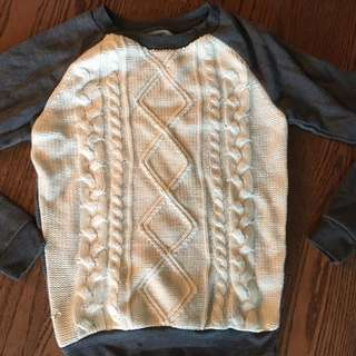 Knitted fall sweater