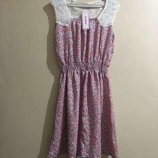 Jellybean Lace Accent Dress