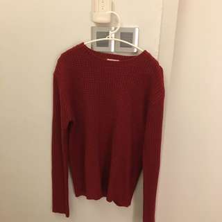 (Inc pos)Red knit