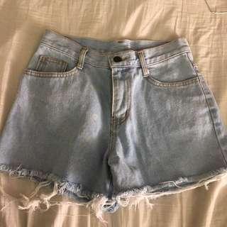 (Inc Pos) Light Denim Shorts