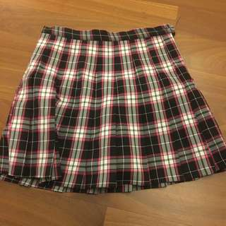 (Inc Pos) Check Patterned Tennis Skirt