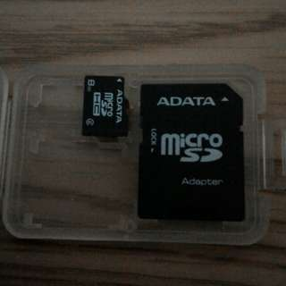 🚚 ADATA  8GB 手機記憶卡 ( T-Flash )附轉接卡