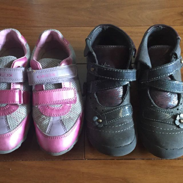 2 Pairs girl's shoes/Boots Size 10