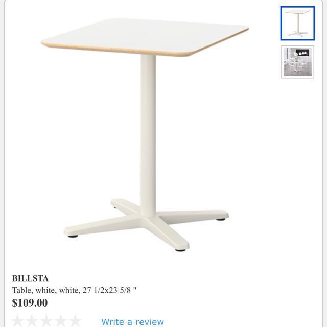 2 Pcs Of Ikea Billsta High Cafe Table