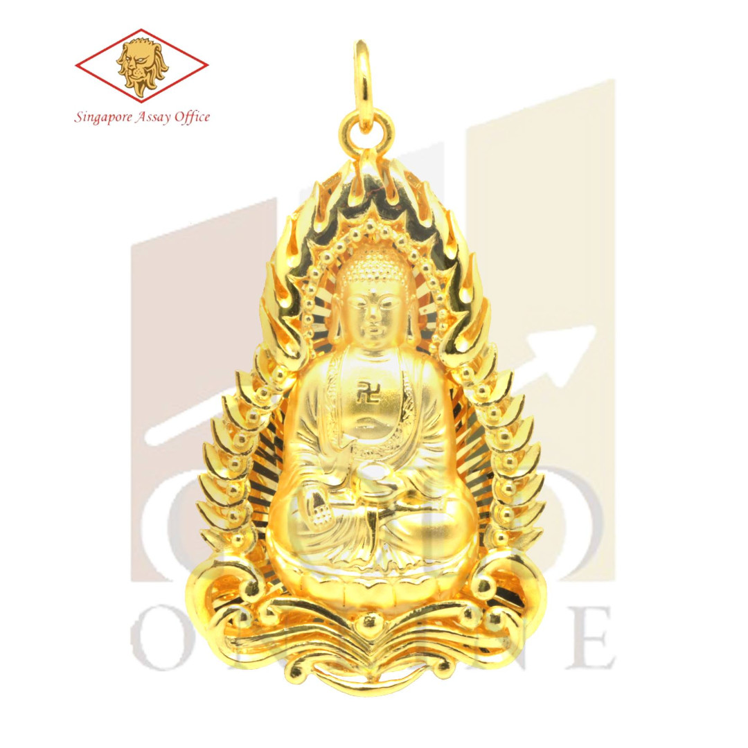 999 pure gold buddha pendant luxury accessories on carousell photo photo photo mozeypictures Images
