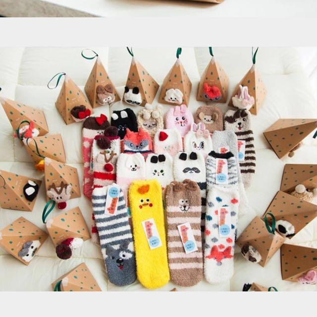 珊瑚絨襪、聖誕襪