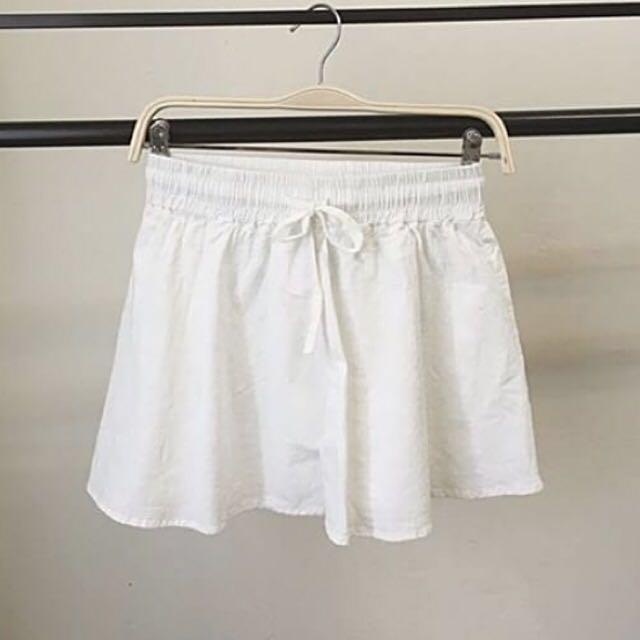 🌹休閒舒服麻棉鬆緊短褲