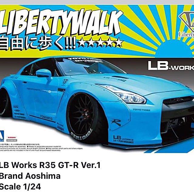 Aoshima R35 LB WORKS