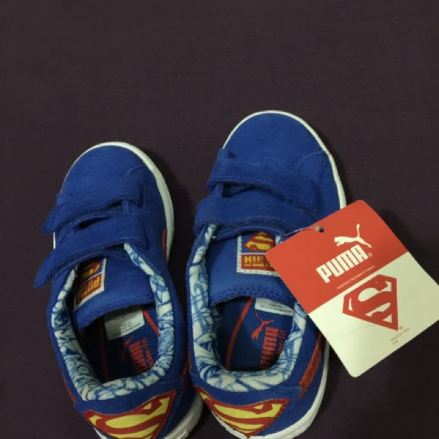 Authentic Puma shoes for kids( superman)