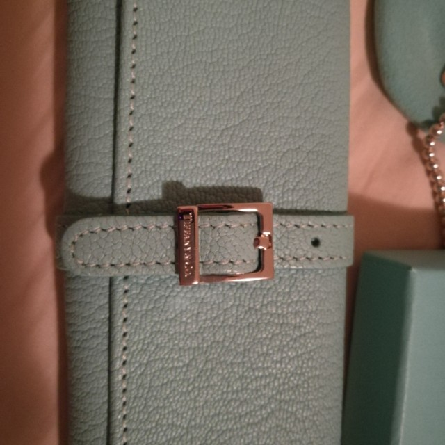 Tiffany and co leather jewellery roll authentic