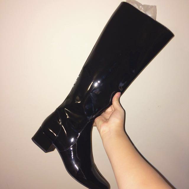 Authentic Yves Saint Laurent Paris high heel boots