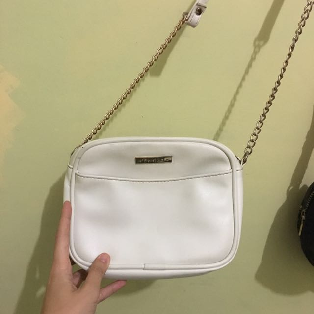 Bershka White Sling Bag