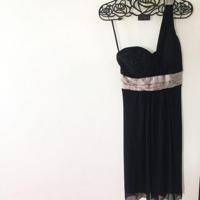 Black Cocktail Dress with Foam