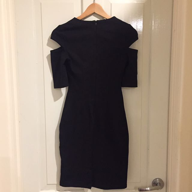 Black Dress With Cutouts And Pencil Skirt Xs Womens Fashion