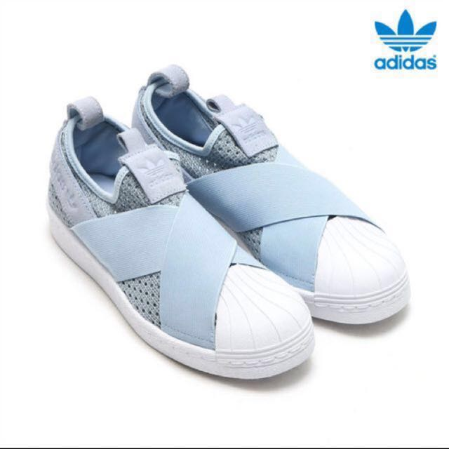Bnib adidas superstar slipon w (blue) uk4.5, Women's Fashion