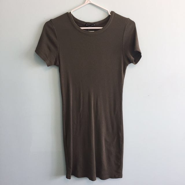 BNWT brandy Melville olive green dress