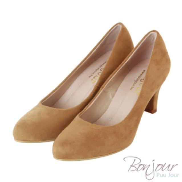 Bonjour彈力靜音跟鞋