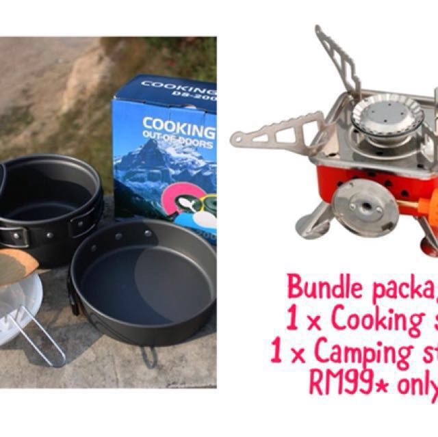 Bundle Package: Cooking Set & Stove