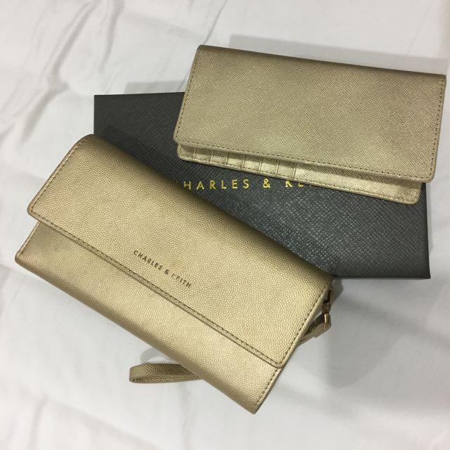 Charles & Keith Gold Wallet