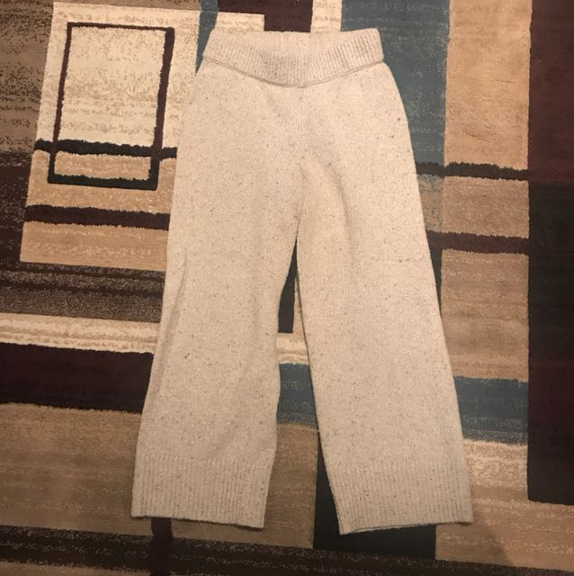 Club Monaco wool wide leg pants