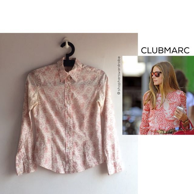 CLUBMARC paisley shirt