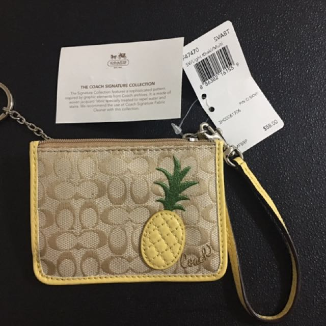 Coach Cardholder and Coin Bag with Key Ring