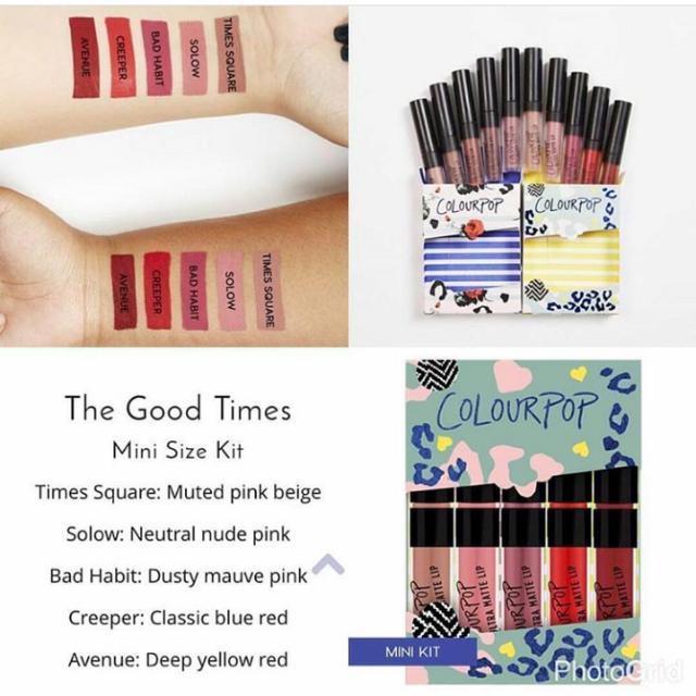 Colourpop Mini Size Ultra Matte Lip Kit in The Good Times