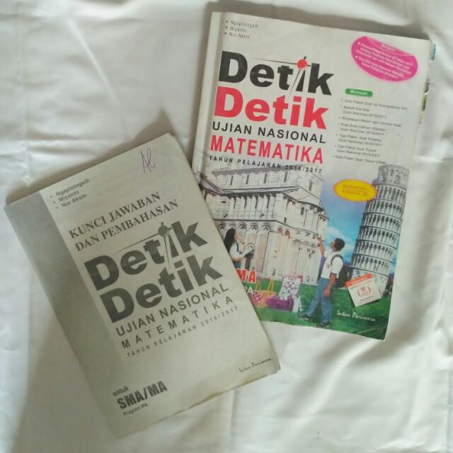 Detik Detik Un Matematika 2016 2017 Sma Ma Kunci Jawaban Buku Alat Tulis Buku Pelajaran Di Carousell