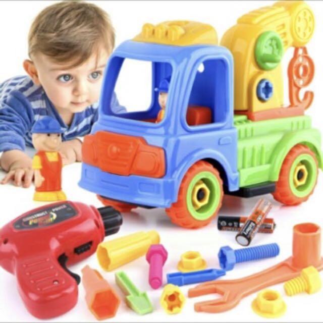 DIY 兒童拆卸玩具-吊車