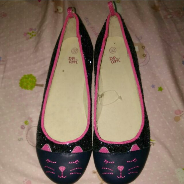 Doll Shoes Cat Design