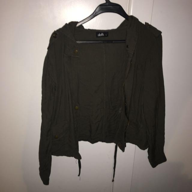 Dotti army green jacket | size 8