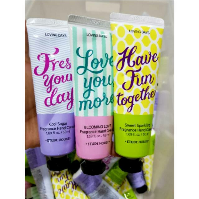 Free ongkir!! Etude House Loving Days Fragrance Hand Cream 50ml