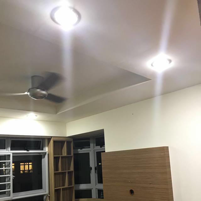 Direct Contractor False Ceiling L Box Cornice Light, Home