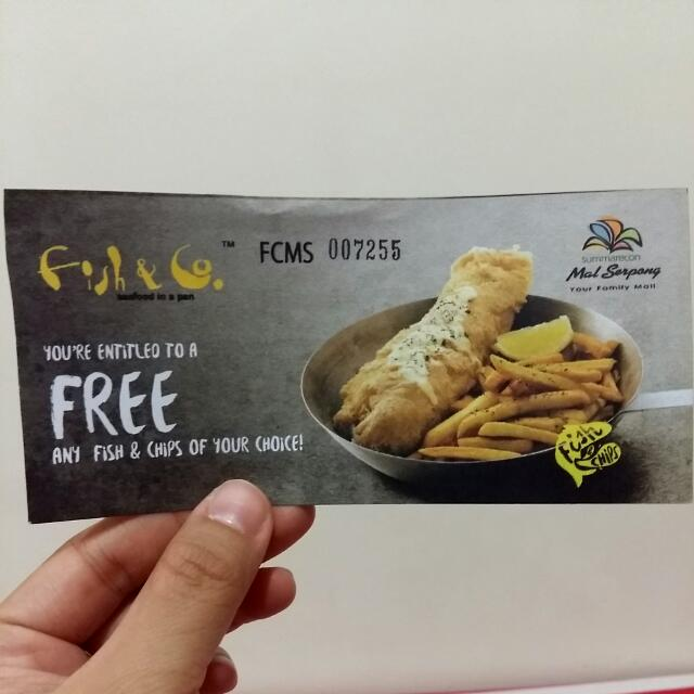 FISH AND CO VOUCHER