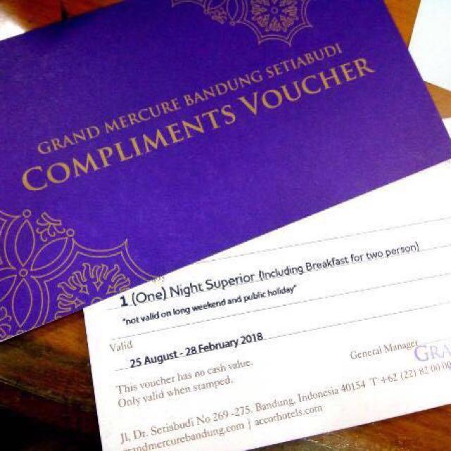 Gift Voucher Grand Mercure Setiabudhi Bandung