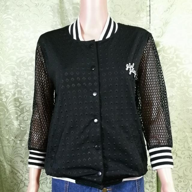 Girl Gang Varsity Net Jacket