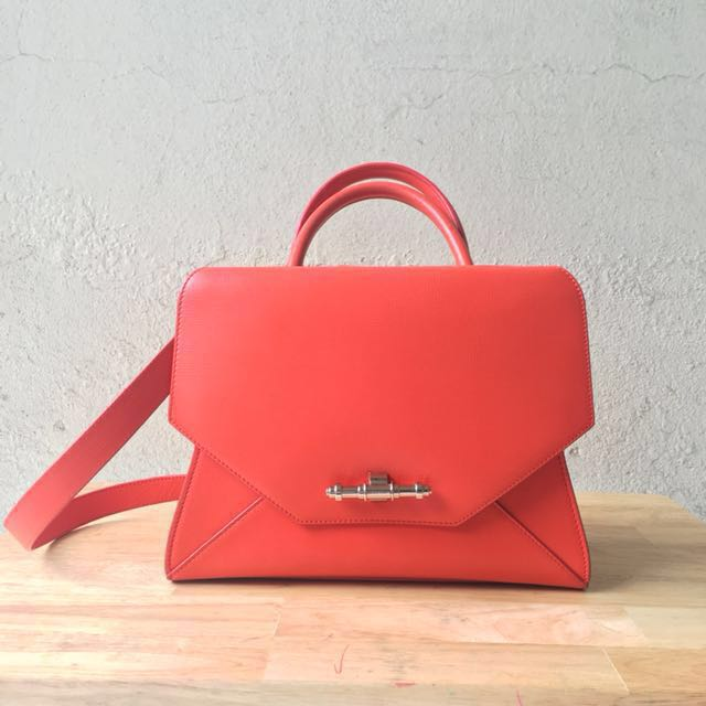 Givenchy small orange Obsedia tote