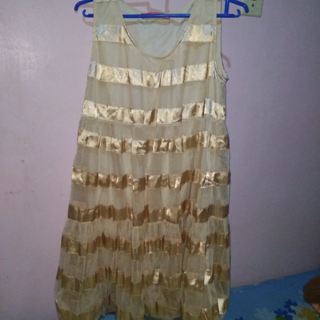 Gold Balloon Dress