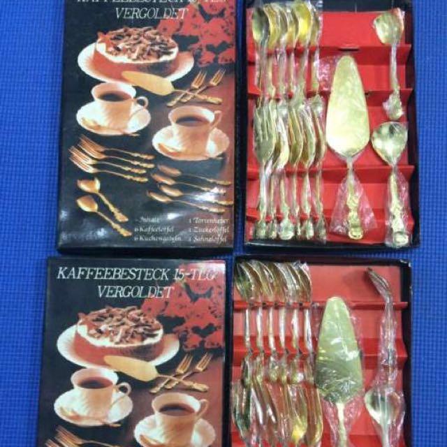 Goldplated Flatwares - Kaffeebesteck 15-TLG Vergoldet (2sets)