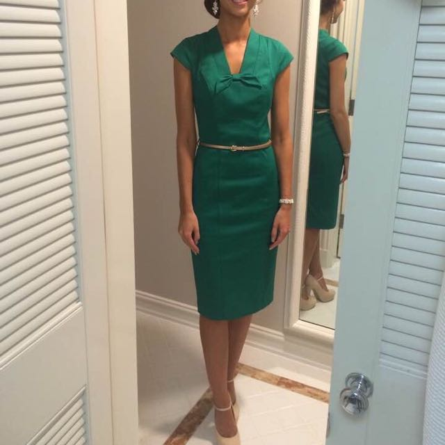 Green Review dress