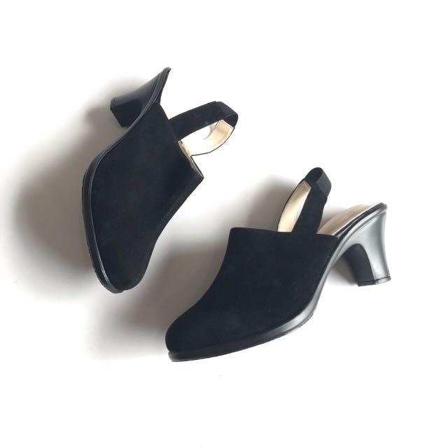 Heels Hitam Tali Murah - Sepatu Highheels Suede - Sepatu Kerja Wanita - Sepatu Heels Kantor Resmi - Heels Pesta - Cuci Gudang Termurah, Olshop Fashion, ...
