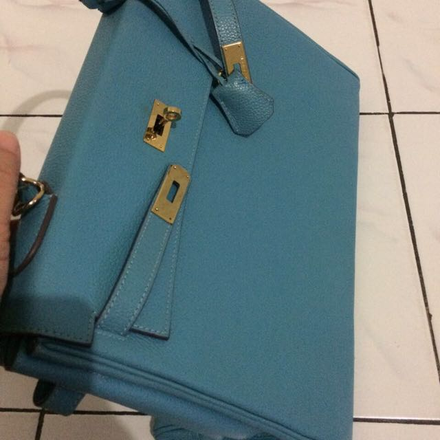 Hermes Kelly 35 Blue